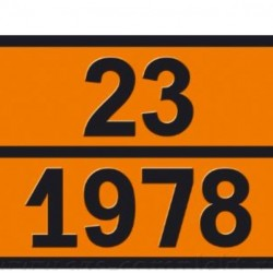 Табела ADR стоманена 0.8мм. 300х400мм. 23/1978 -ТЕЧЕН ПРОПАН-БУТАН-