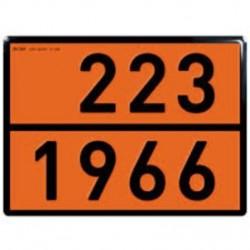 Табела ADR, стоманена 0.8мм. 300х400мм. 223/1966 -ТЕЧЕН ВОДОРОД-