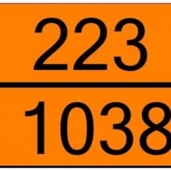 Табела ADR стомана 0.8мм. 300х400мм. 223/1038 -ОХЛАДЕН ЕТИЛЕН-