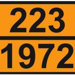 Табела ADR стоманена 0.8мм. 300х400мм. 223/1972 -ВТЕЧНЕН ГАЗ-
