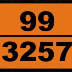 Табела ADR стоманена, релефна, еднозначна 99/3257 -Битом-