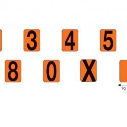 Цифри ADR табела 33, броя 70х118мм.
