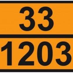 Табела ADR релефна, цинк 33/1203 -БЕНЗИН-