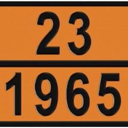 Табела ADR релефна, цинк 23/1965 -ПРОПАН БУТАН-
