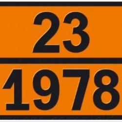 Табела ADR цинк 0.8мм. 300х400мм 23/1978 -ТЕЧЕН ПРОПАН-БУТАН-