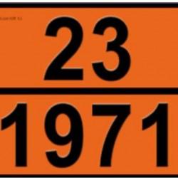 Табела ADR релефна, цинк 0.8мм. 300х400мм. 23/1971 -ПРИРОДЕН ГАЗ-
