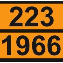 Табела ADR цинк 0.8мм. 300х400мм. 223/1966 -ТЕЧЕН ВОДОРОД-