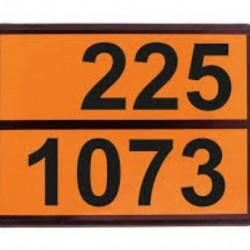Табела ADR релефна, цинк 0.8мм. 300х400мм. 225/1073 -ТЕЧЕН КИСЛОРОД-