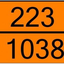Табела ADR цинк 0.8мм. 300х400мм 223/1038 -ОХЛАДЕН ЕТИЛЕН-