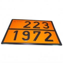 Табела ADR 0.8мм. 300х400мм. 223/1972 -ВТЕЧНЕН ГАЗ-