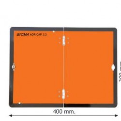 Табела ADR алуминиева 2.0мм 300х400мм Вертикална-Сгъваема-