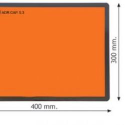 Табела ADR стоманена, оранжева, несгъваема 300x400
