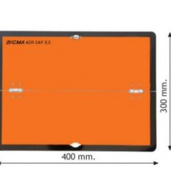 Табела ADR алуминиева 2.0мм 300х400мм -Хоризонтална-Сгъваема-