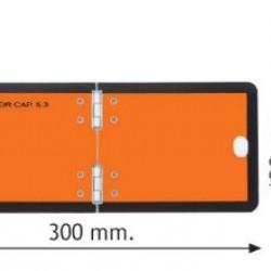 Табела ADR сгъваема, вертикална, за бус 300х120x2мм