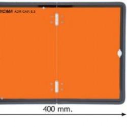 Табела ADR INOX стомана 0.8мм. 300х400мм. Сгъваема/ Вертикална с гума