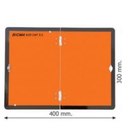 Табела ADR цинк 0.8мм. 300х400мм, Вертикална, сгъваема с долно закопчаване