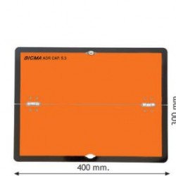 Табела ADR цинк 0.8мм 300х400мм. Хоризонтална-Сгъваема