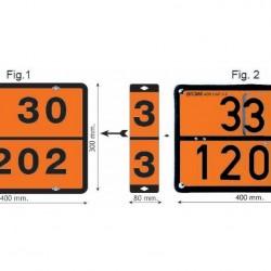 Табела ADR сменяема 400х300мм ДИЗЕЛ/БЕНЗИН