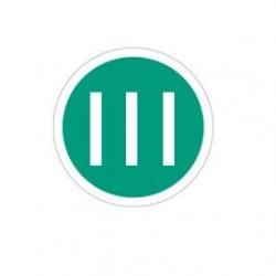 Стикер с номер III (римско), 220мм - Превозни средства евро 3