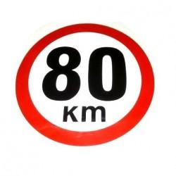 Стикер 70 км, жълт, Ф160 мм