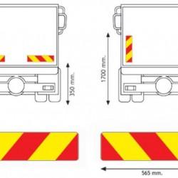 Стикер светлоотразителен камион 565х132 Ad