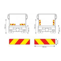 Стикер светлоотразител флуоресцент за камион 565х132 RF