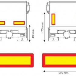 Стикер светлоотразителен ремарке 565х196 AD