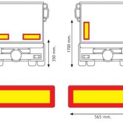 Стикер светлоотразителен флуоресцент , ремарке 565х196 RF AD