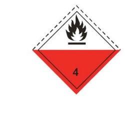 Стикер за леснозапалим материал 300х300мм. class 4