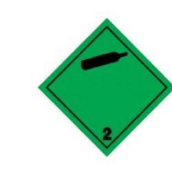 Стикер за сгъстен незапалим газ 300x300мм.