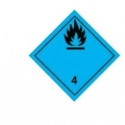 Стикер запалим газ при контакт с вода 300х300мм. class 4