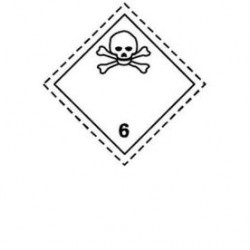 Стикер токсични вещества CI.6.1 300х300мм