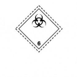 Стикер за биологични отпадъци CI.6.2 300х300мм