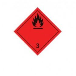 Стикер леснозапалим материал 250х250мм class 3