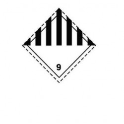 Стикер обща опасност 250х250мм class 9