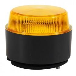 Маяк син LED нисък с равна основа 10-30V