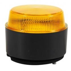Маяк зелен LED нисък с равна основа 10-30V