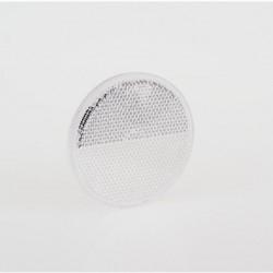 Светлоотразител кръг, бял, с винт