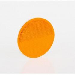 Светлоотразител кръг, оранжев с винт