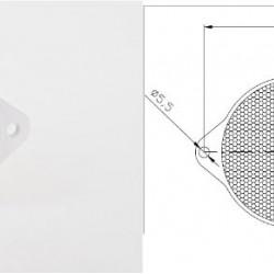 Светлоотразител кръг, бял с 2 винта