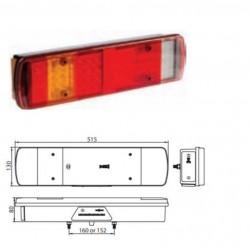 Стоп универсален диоден RH LED 7-секционен 24V с букса