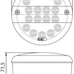 Фар за мъгла заден диоден /бял/кръгъл 9-33V