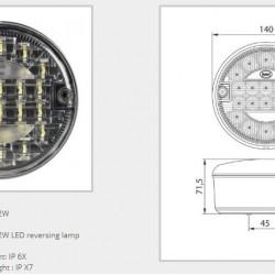 Халоген  допълнителен заден LED , 9-33V, консумация 2,3-2,4W