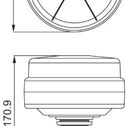 Маяк LED за монтаж тип тръба 12светлини 10-30V