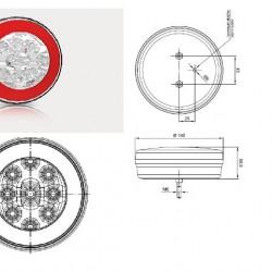 Халоген диоден LED, бял преден - FT-112