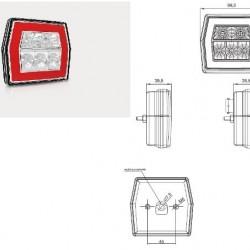 Стоп с мигач с кабел-(1м.) LED RH/LH -универсален-