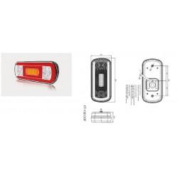 Стоп универсален диоден 6 светлинен 12-36V, със светлина за задна скорост