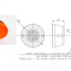 Габарит оранжев изпъкнал FT31Z