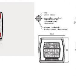 Стоп универсален, LED, червен осветител за номер/жълт мигач с букса-(1М) RH/LH