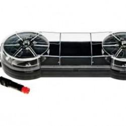 Маяк диоден мини версия, с магнит и кабел за запалка с кристално стъкло, светещ оранжево/10 режима на работа/10-33V